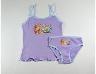 Conjunto niña con tirantes color lila