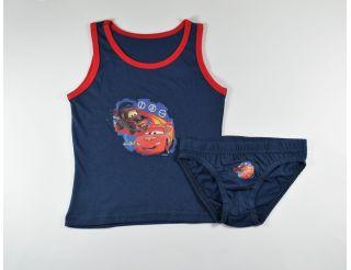 Conjunto niño con tirantes azul marino