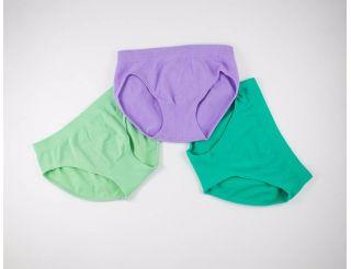 Pack braguitas color verde claro,lila y verde oscuro