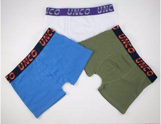 Boxers colores azul, blanco y verde.