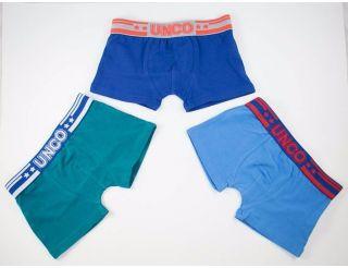Boxers colores verde, azul y marino.