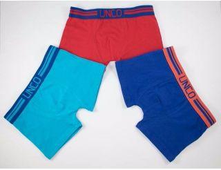 Boxers colores celeste, rojo y marino.