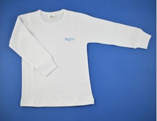 Camiseta niño manga larga blanca y lisa