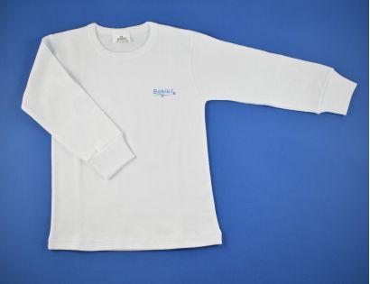 21a356103 Camiseta niño manga larga blanca y lisa