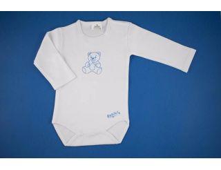 Body niño con corchetes y osito azul