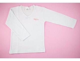 Camiseta niña manga larga blanca y lisa