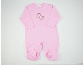 Pelele niña manga larga rosa con caballito