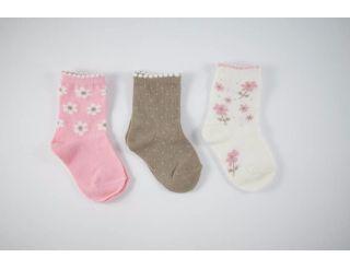 Pack calcetines tonos rosas en flores