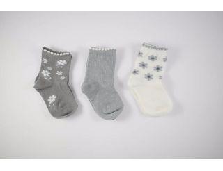Pack calcetines tonos grises de flores