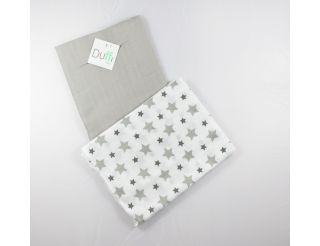 Pack de 2 muselinas gris con estrellas