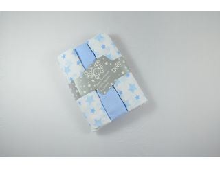 Pack de muselina azul con estrellas