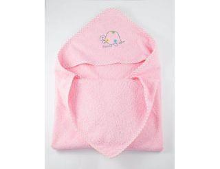 Capa de baño bebe color rosa