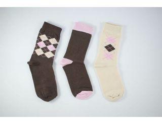 Pack calcetines rombos tono marrón