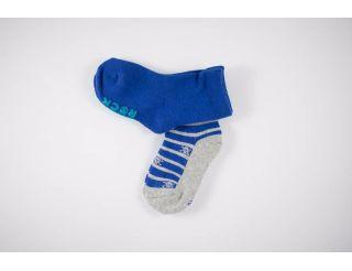 Calcetín+antideslizante niño azul y gris