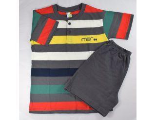 Pijama niño manga corta con colores variados