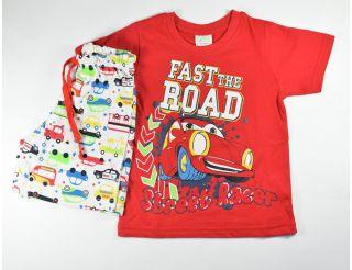 Pijama niño manga corta con coches