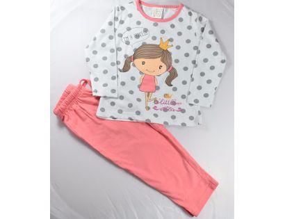 ac9dc07fc Pijama niña manga larga con niña y corona - Babiki