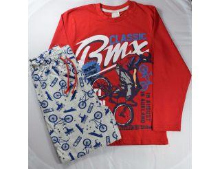 Pijama niño manga larga con bicicletas
