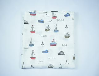 Muselina con barcos